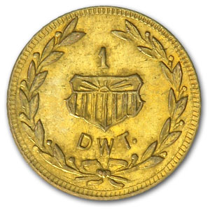 1909 Alaska Gold Yukon Pacific Expo One DWT (Dollar)